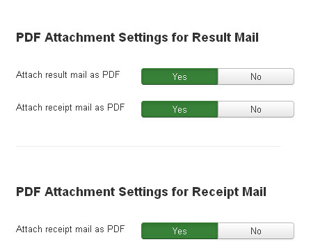 PDF Attachment Options
